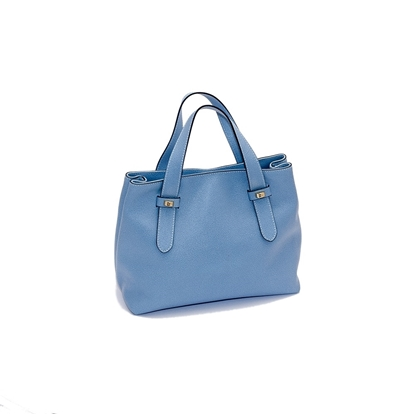 Immagine di BORBONESE | Borsa in Pelle Light Blue